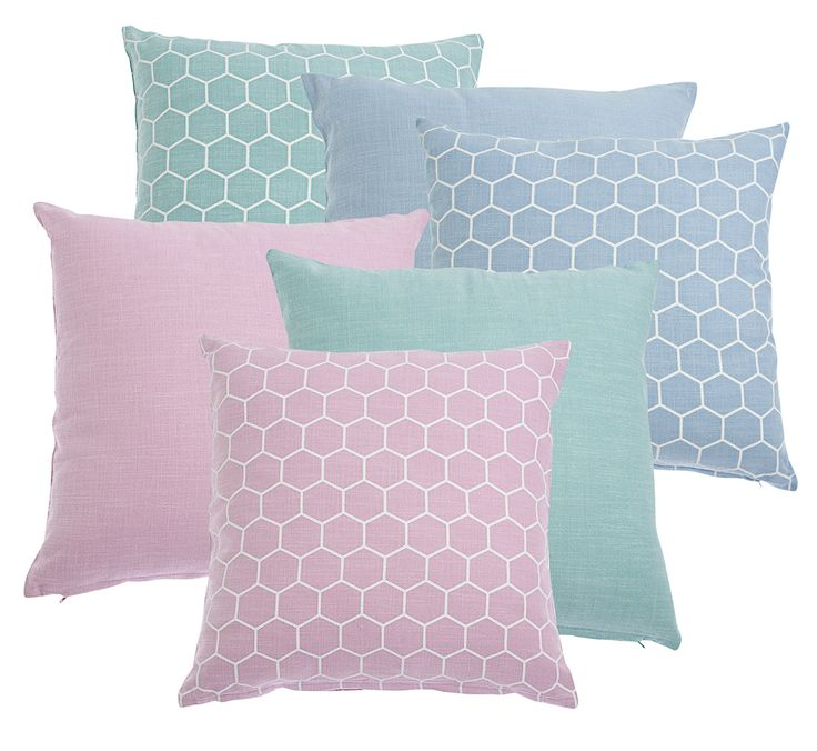Cushion covers in pastels Nyblom Kollén
