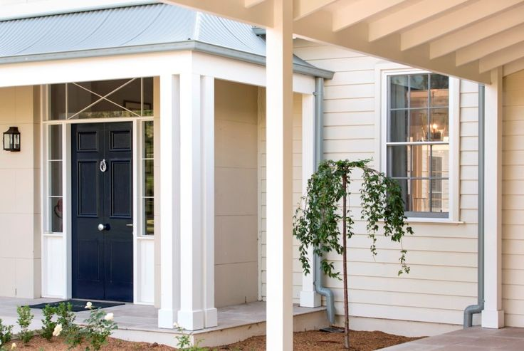 Hunter Valley Horse Stud, Coolmore Australia, classic Australian country, horse stud offices, navy front door