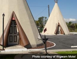 Wigwam Motel, San Bernadino, CA fun-funky-vacation-hotel-stays-3-teepee-lg