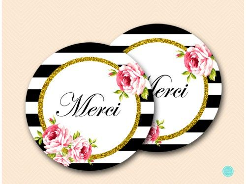 BS10 Tags-Merci-2inches-black-stripes-gold-thank-you-tags