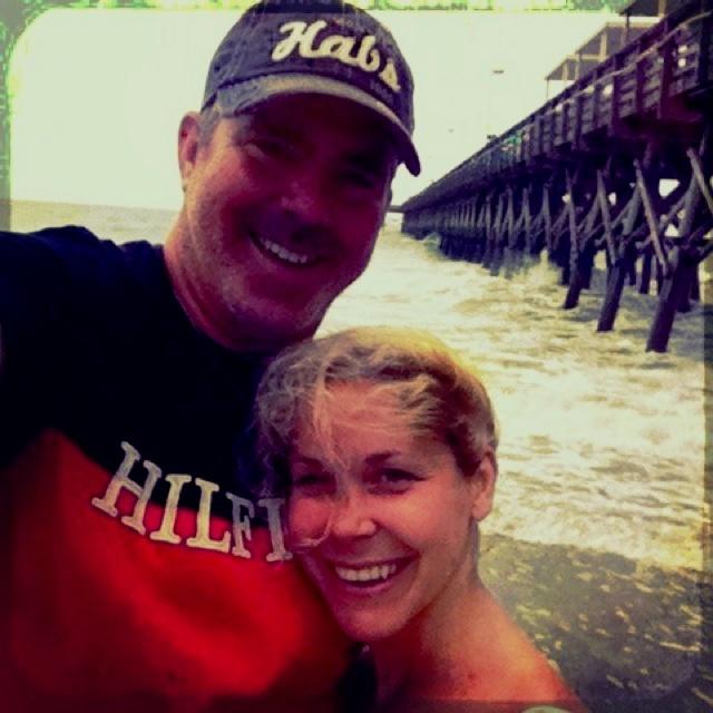 Et nous voilà finalement à Myrtle Beach... Suivis par un violent orage qui a gonflé la mer et fermé les plages...