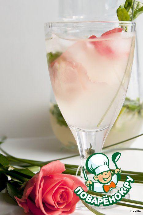 """Базиликовый лимонад """"Розовый вечер"""" - кулинарный рецепт"""