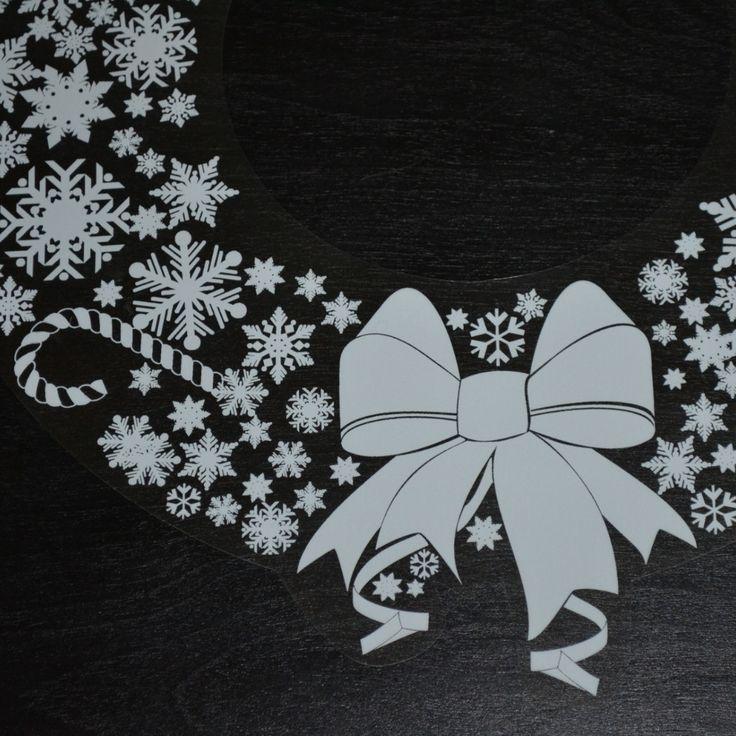 "12"" Christmas Wreath Window Decal"