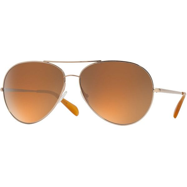 Oliver Peoples Sayer Oversized Mirrored Aviator Sunglasses ($450) ❤ liked on Polyvore featuring accessories, eyewear, sunglasses, gold, mirrored lens sunglasses, mirrored sunglasses, oliver peoples glasses, mirror aviators and mirrored aviators