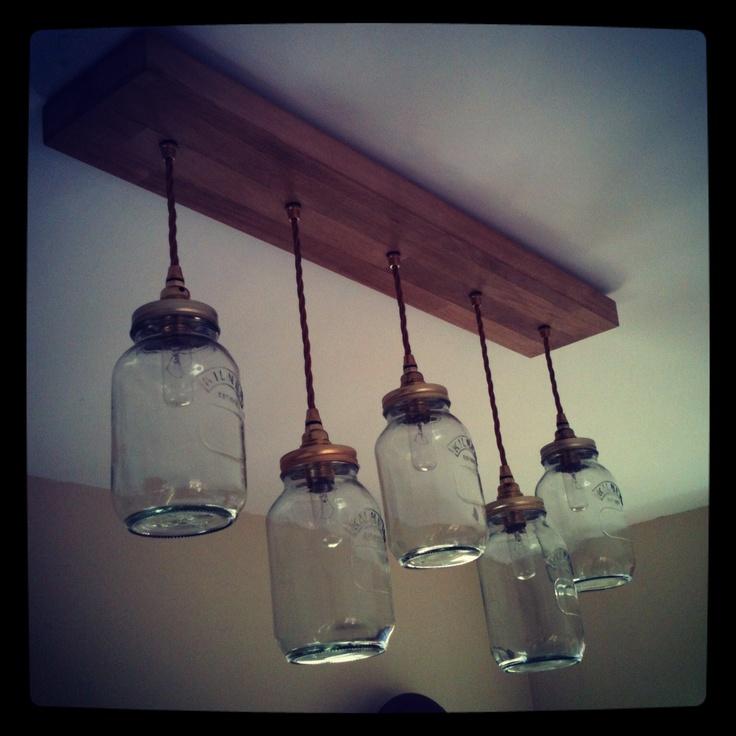 Light I made from some Kilner Jars.