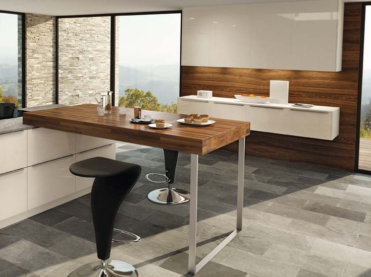 kitchen bar against wall - Google Search