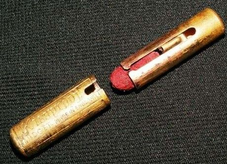 The first lip-stick from 1915Lips Colours, Levy 1915, Maurice Levis, Lips Sticks, About 1915, New Products, Lipsticks Tube, Lips Colors, Metals Lipsticks