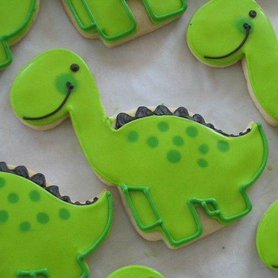 These are so cute! Dinosaur cookies