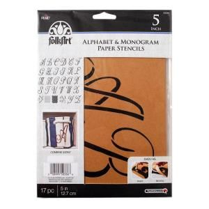 FolkArt Script 5 in. Alphabet and Monogram Paper Stencil 50336 at The Home Depot - Mobile