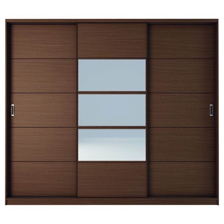 Manhattan Comfort Adrian 6-Drawer And 7 Shelf Sliding Door Wardrobe With Mirrors - Discontinued