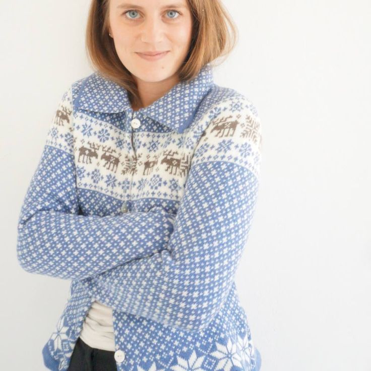Cardigan/jacket in nordic knit by NordicKnit on Etsy