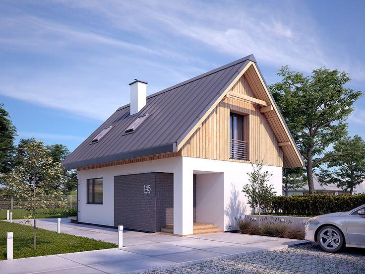 Projekt Groszek 2 (81 m2). Pełna prezentacja projektu dostępna jest na stronie: https://www.domywstylu.pl/projekt-domu-groszek_2.php #groszek #domywstylu #mtmstyl #projekty #projektygotowe #dom #domy #projekt #budowadomu #budujemydom #design #newdesign #home #houses