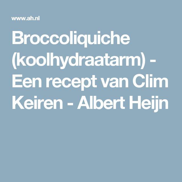 Broccoliquiche (koolhydraatarm) - Een recept van Clim Keiren - Albert Heijn