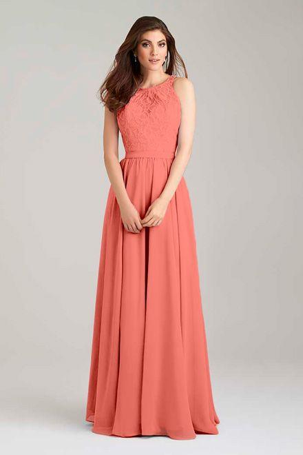 Bridesmaid Dress #1465 in Watermelon. Allure Bridals
