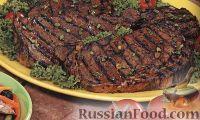 Фото к рецепту: Говяжьи стейки в имбирном маринаде