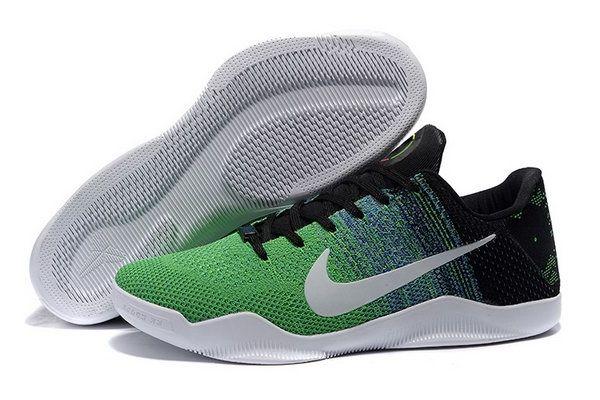 Nike Flyknit Kobe 11 Shoes Grey Black Green Greece