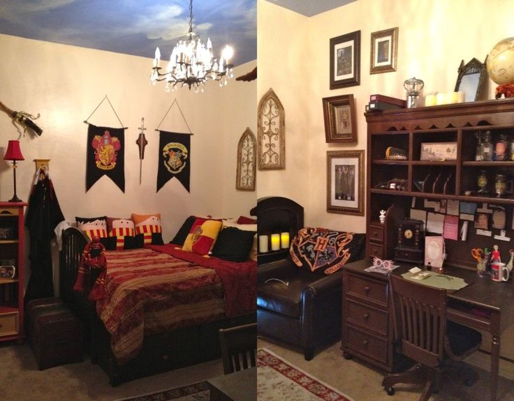 Harry potter rooms harry potter bedroom draco dormiens for Bedroom ideas harry potter
