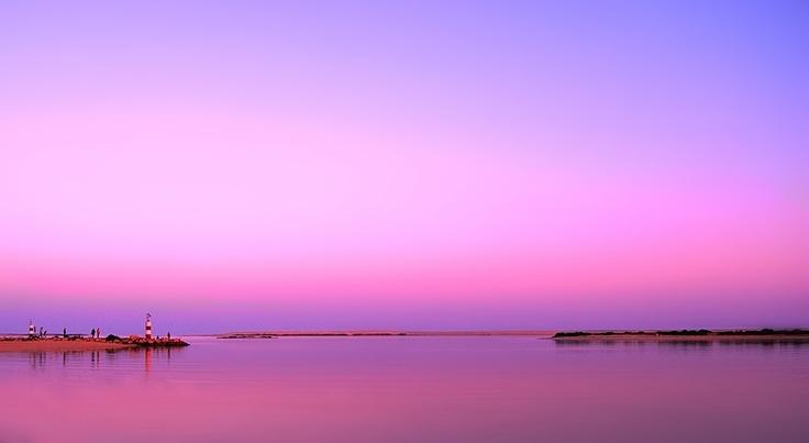 Barra da Fuzeta at sunset