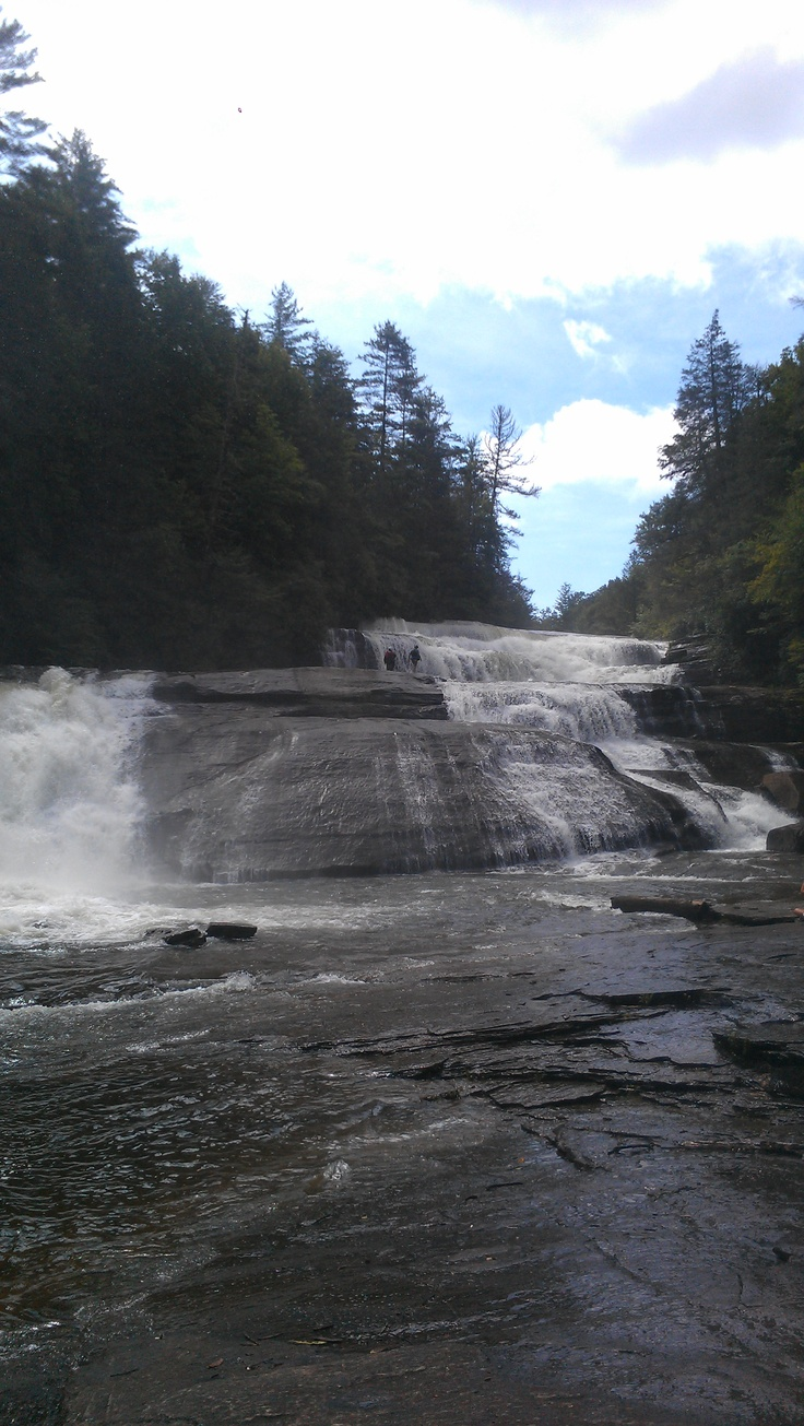 Triple Falls flows on the Little River through the DuPont State Forest in North Carolina. Site of Hunger Games movie
