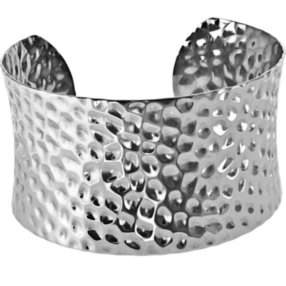 Dolores cuff bracelet Channel your inner Wonder Woman with this fantastic stainless steel cuff bracelet. Adjustable to fit any size wrist. Hammered steel. Tocara Jewelry Bracelets
