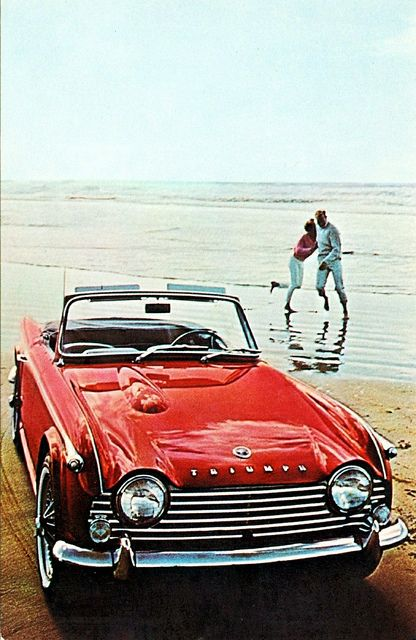 #Triumph TR-4A - Just don't let the car too close to the water, we know what happens with British #sportscars.