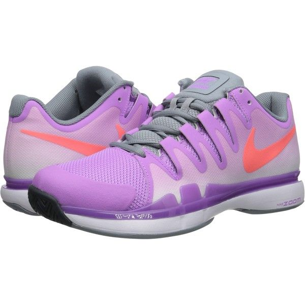Nike Zoom Vapor 9.5 Tour Women's Tennis Shoes, Purple ($55) ❤ liked on Polyvore featuring shoes, athletic shoes, purple, lace up shoes, purple tennis shoes, laced shoes, lightweight shoes and low shoes