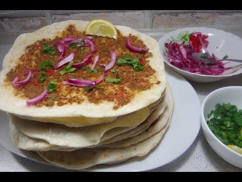 Pizza turceasca Lahmacun cu ayran - Reteta video - Idealika