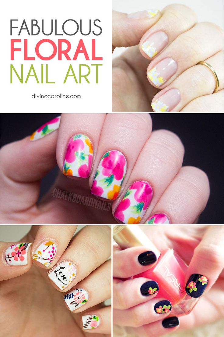 April showers bring May flowers! Get in the season with knockout nails. #nailart #nailtrends #spring