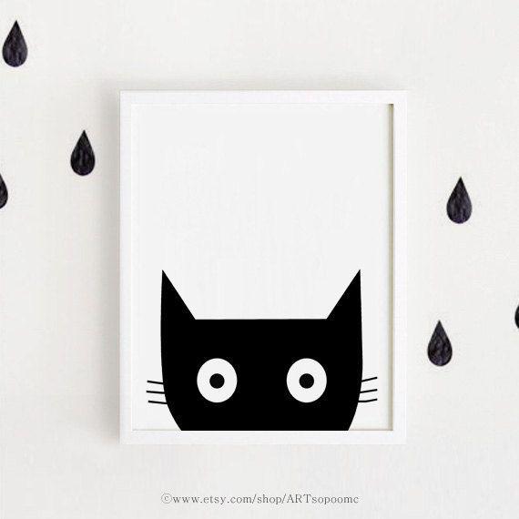 Black & white nursery poster bebe INSTANT DOWNLOAD by ARTsopoomc