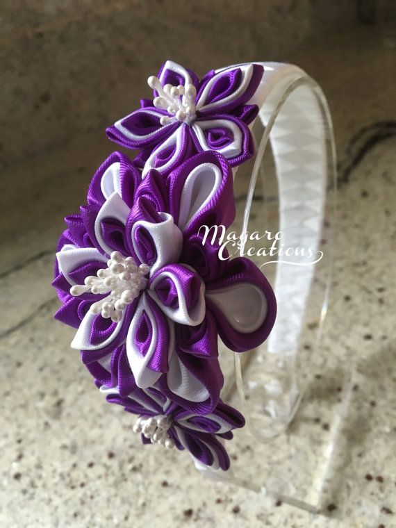 Purple headbandkanzashigirl headbandheadband от MagaroCreations