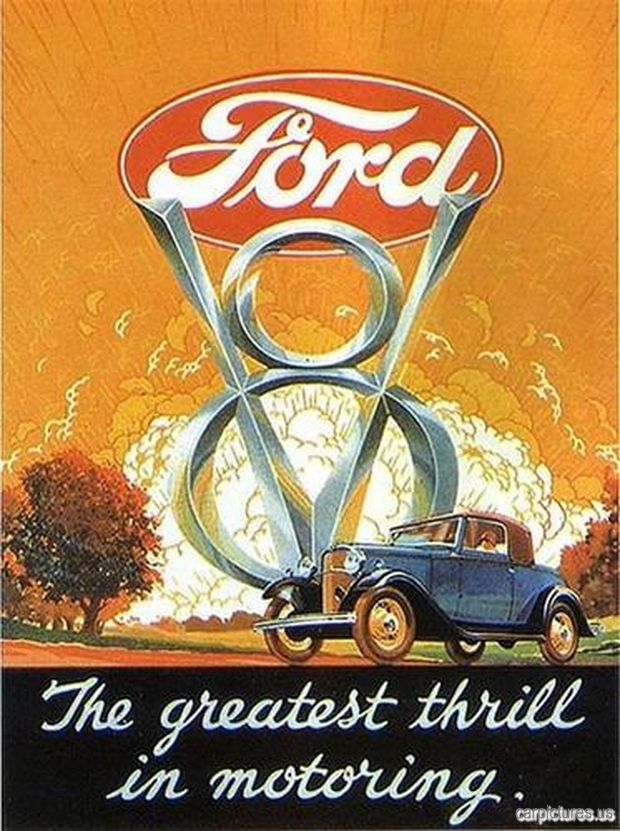 1932 Ford V-8 Ad. More Car Pictures:  http://carpictures.us