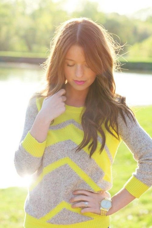 Love this sweater! And her hair!