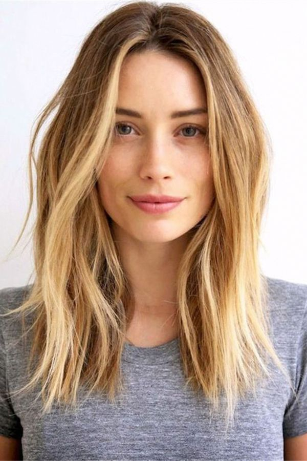 Middle Part Loose Straight Women S Hairstyle Lace Front