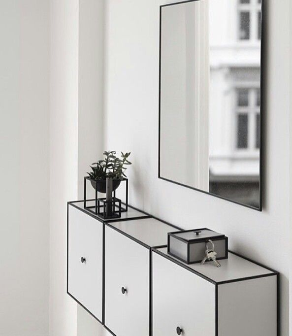 Storage framelde and slim mirror - by Lassen - can I have it just like it is on the picture - please ☺