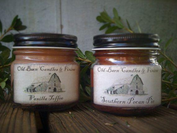 8 oz. Primitive Mason Jar Candle  Highly by DebsCandlesandDreams