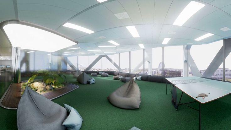 Recorrido de una planta tipo para gafas de realidad virtual del #edificio #oxxeo #madrid #grupogmp #alquiler #oficinas