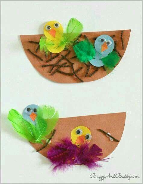 Vogels in nestje