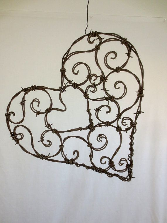 "Beautiful 12""  Spirillian Barbed Wire Heart of Spirals"