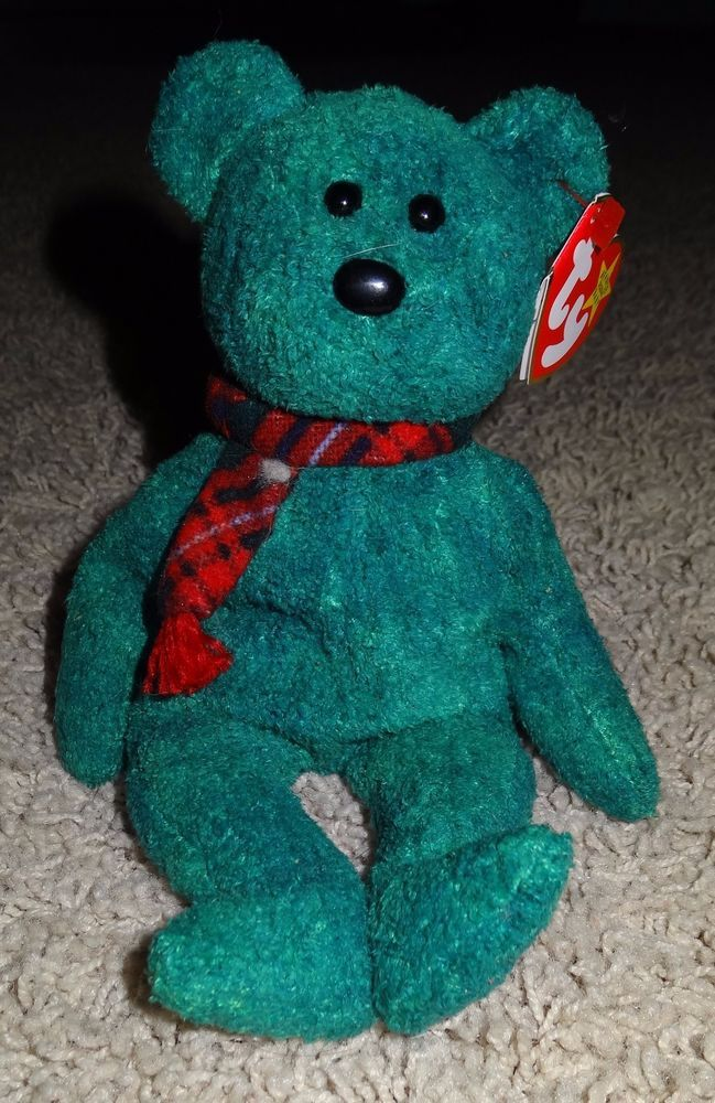 TY Beanie Baby Wallace Scottish Teddy Bear Green Retired 1999 Mint Tags -  TH  Ty 36f6f21ac42