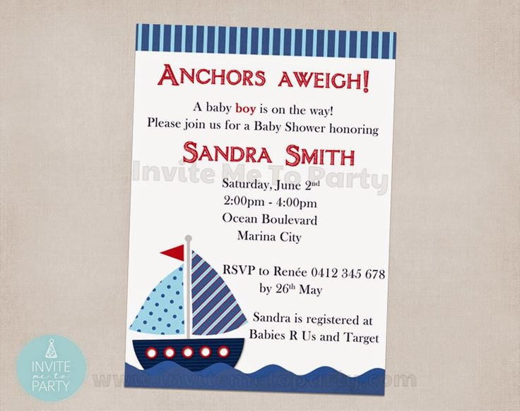 Nautical Baby Shower Invitation  Invite Me To Party