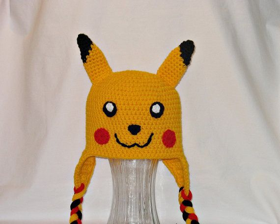 Pikachu Hat Free Shipping Kids Pikachu Hat by DeesCozyCreations, $32.99