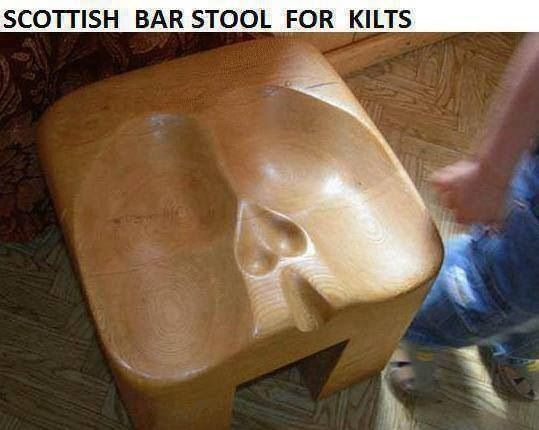Seat for men who wear kilts... no comment.
