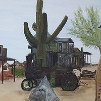 Goldfield Ghost Town  Oil On Canvas 16 X 20  Goldfield Ghost Town, Apache Trail, Arizona