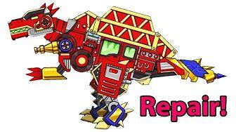 Repair Dino Robot - Terminator T-REX + Spinosaurus - Full Game Play - 1080 HD - YouTube