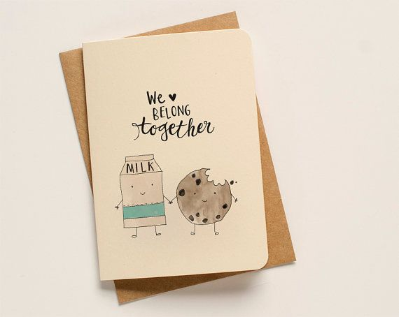 Milk & Cookies Greeting Card by AnAprilIdea on Etsy, $5.00
