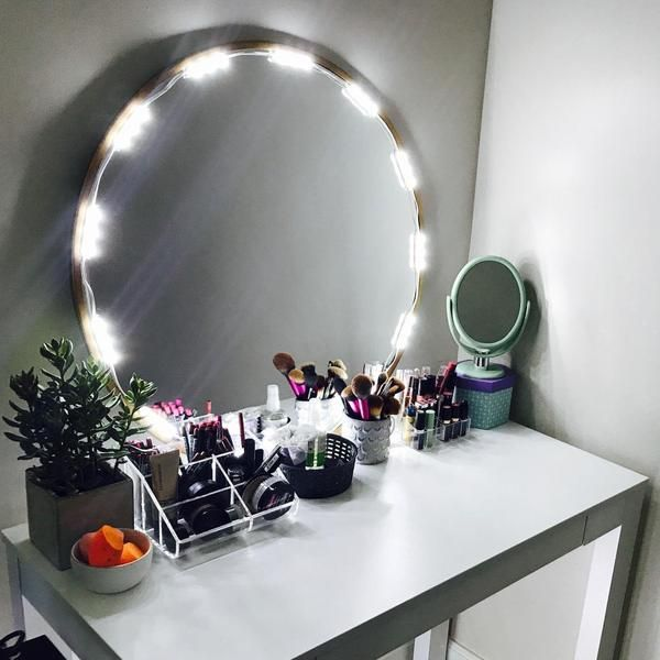 10 Ft Lighted Mirror Led Light For Cosmetic Makeup Vanity Mirror