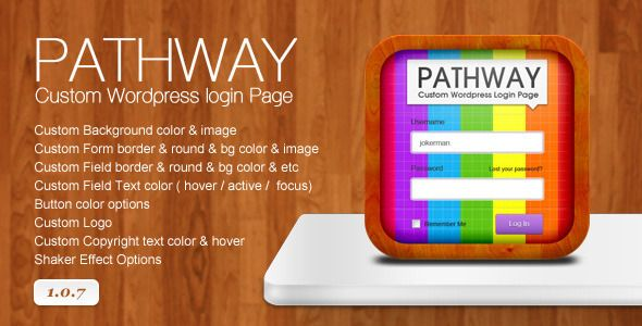 Pathway - Custom Wordpress Login Page - CodeCanyon Item for Sale