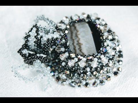 Кулон из агата и кристаллов (Часть 1/3) - YouTube