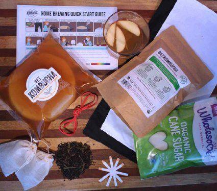 How to make kombucha using this awesome Get Kombucha Review: Kombucha Starter kit includes everything you need to make your own organic kombucha tea.