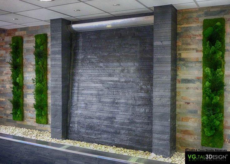 L'Eau, le Minéral et le Végétal! http://www.mur-vegetal-interieur.fr/ http://vgtal3design.blogspot.fr/